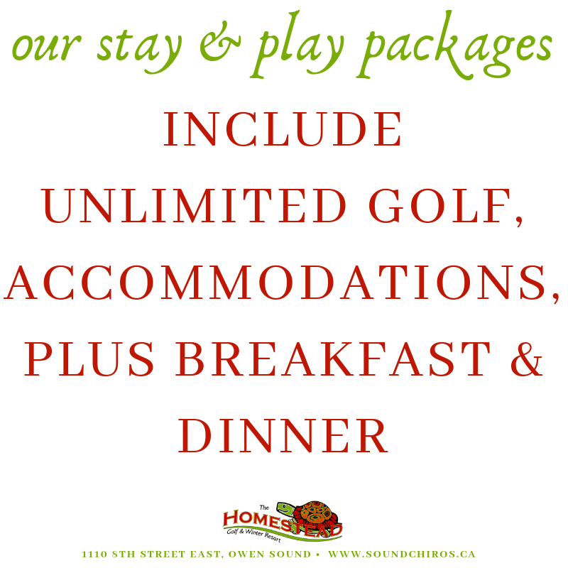 Grey bruce Golf package weekdays